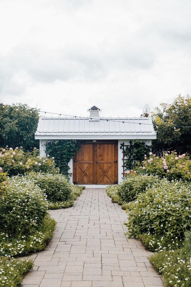 shed in ballina garden